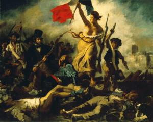 La Libertad que guía al pueblo - Eugene Delacroix